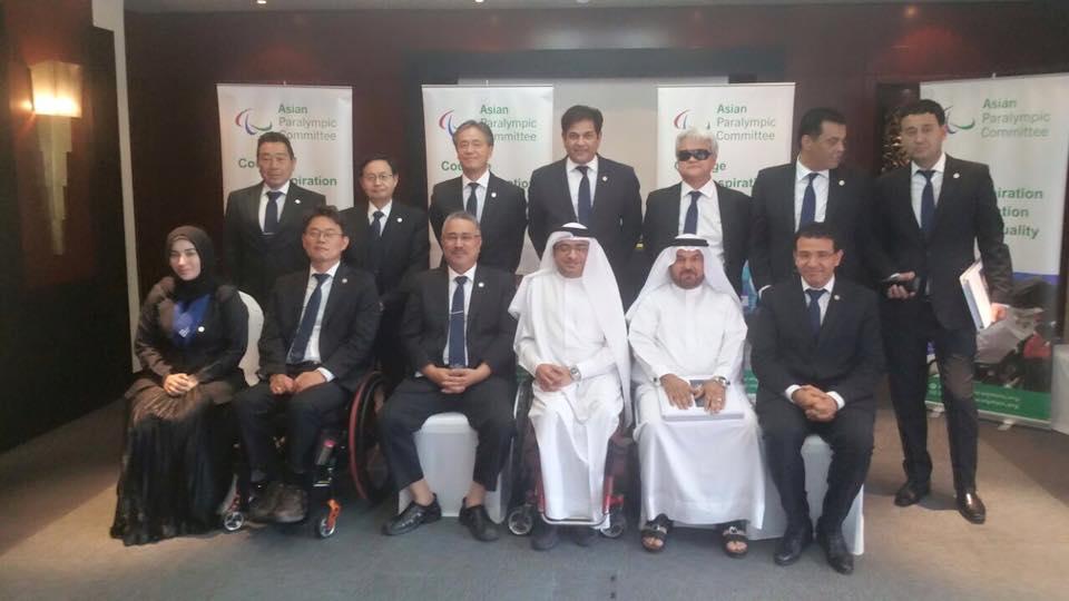 •برئاسة العصيمي ومشاركة بني رشيد اختتام أعمال اجتماع اللجنة البارالمبية الآسيوية في دبي