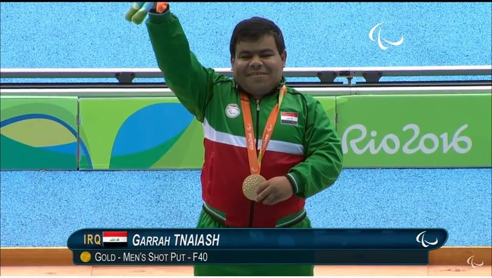 جراح نصار العراق الميدالية الذهبية ألعاب القوى مسابقة دفع الجلة