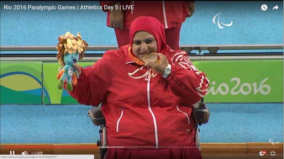 فاطمة نظام البحرين الميدالية الذهبية العاب القوى مسابقة دفع الجلة