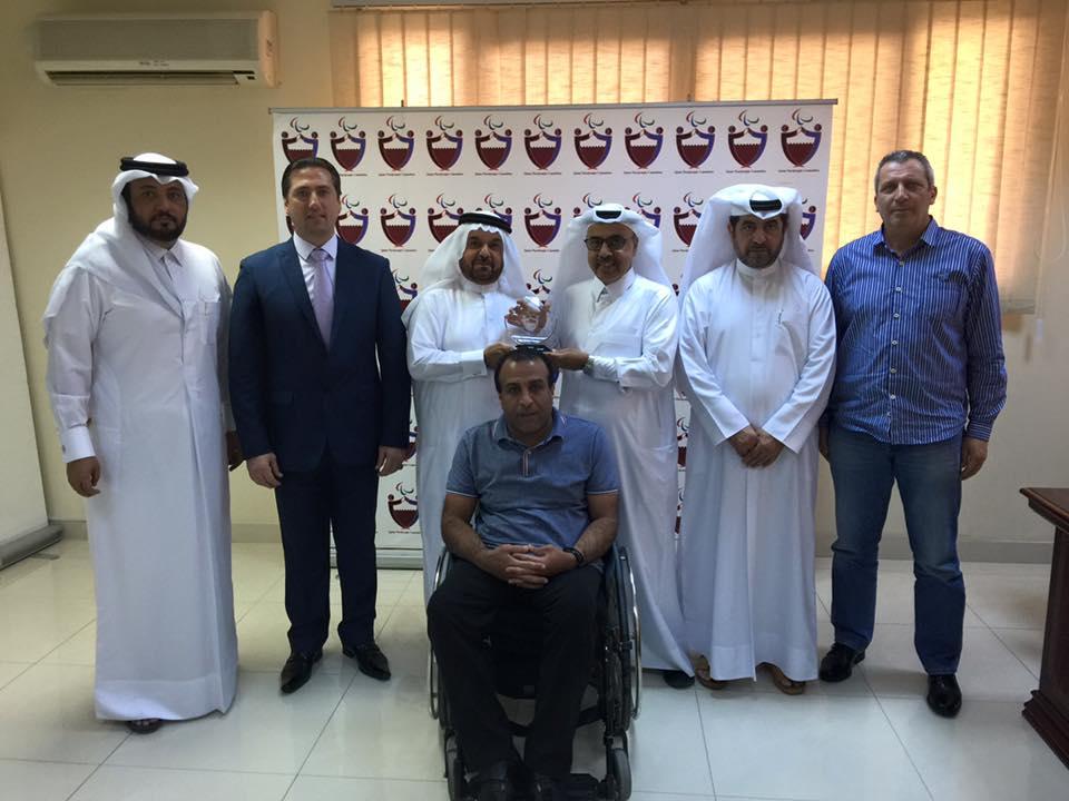 لقاء مثمر لاتحاد غرب آسيا مع اللجنة البارالمبية القطرية في الدوحة