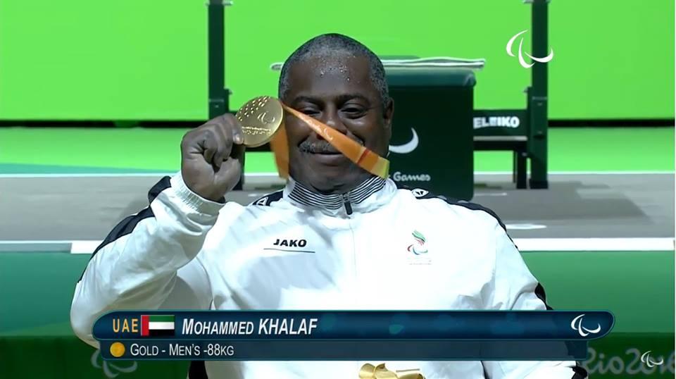 محمد خميس الامارات الميدالية الذهبية رفع الأثقال وزن 88كغ