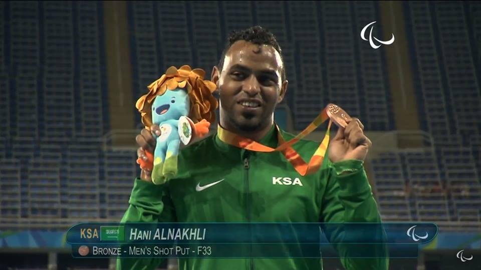هاني النخلي السعودية الميدالية البرونزية ألعاب القوى مسابقة دفع الجلة
