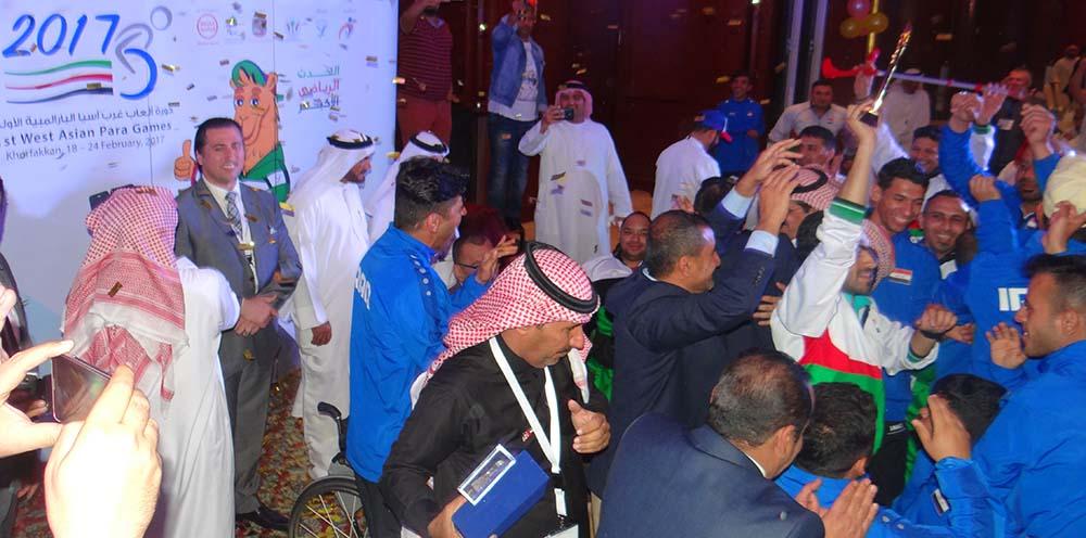 فرحة المنتخب العراقي (دورة ألعاب غرب اسيا البارالمبية الأولى خورفكان 2017 )