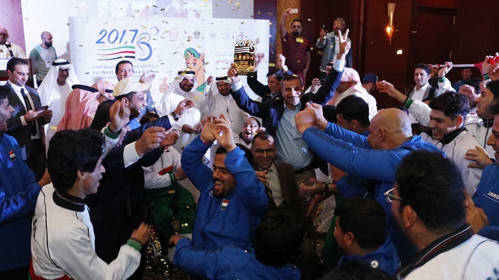 فرحة المنتخب العراقي