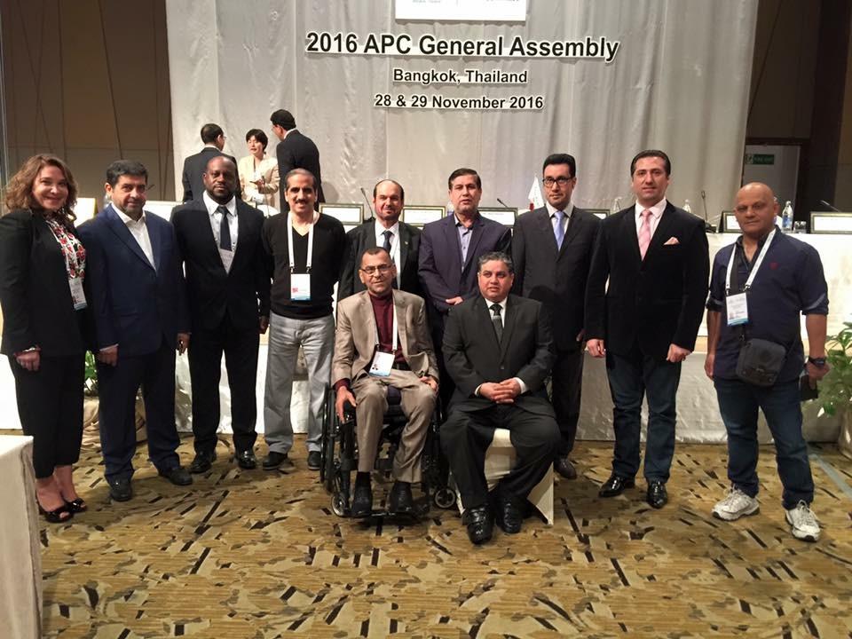 انطلاق أعمال الجمعية العمومية للجنة البارالمبية الآسيوية 2016 في التايلند - بانكوك