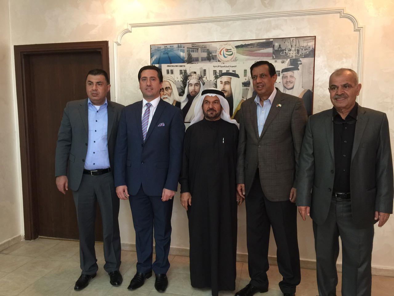 زيارة ودية واجتماع ثنائي بين اتحاد غرب آسيا واللجنة البارالمبية الأردنية