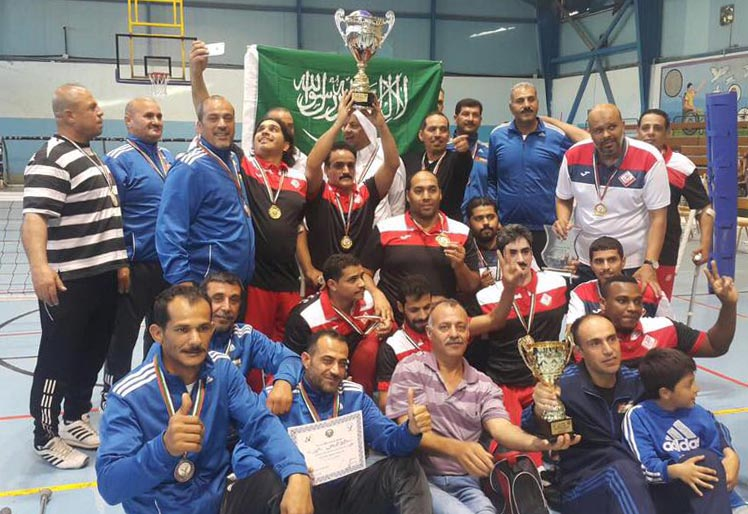 نادي مكة المكرمة بطلاً لأندية غرب آسيا الثانية للكرة الطائرة من الجلوس